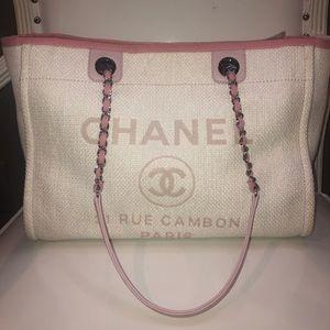 Chanel Small Deauville Woven Straw Raffia Tote
